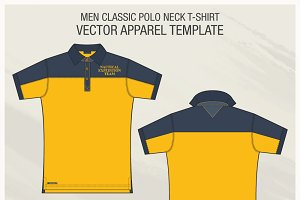 Men Classic Polo Shirt Fashion Flat