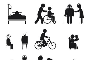 Elderly care icons