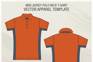 Men Jersey Polo Neck Shirt