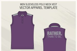 Sleeveless Polo Shirt Fashion Flat