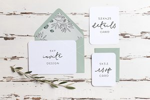 Rustic Wedding Suite Mockup Olive 2