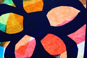 Tissue Paper Stained Glass Art