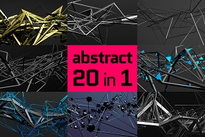 Abstract backgrounds, 3d renders
