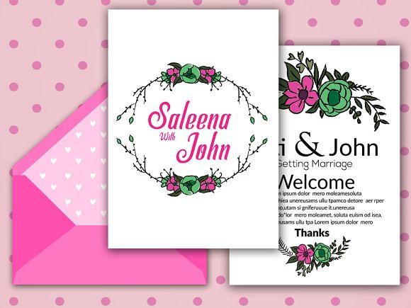 Double Sided Invitation Cards