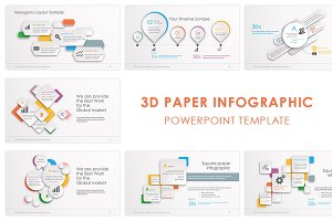 3D Paper Powerpoint Template