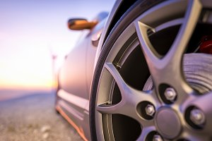 Close-up photos wheel sport.
