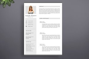 Neat & Clean Resume Template