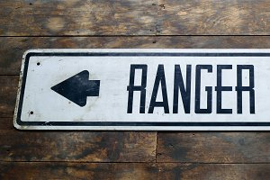 Vintage Ranger Station Sign