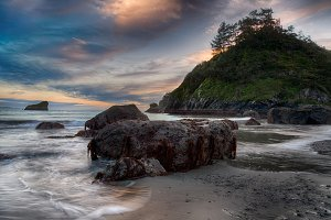 Shoreline Beach Scene from Northern California