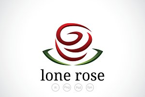 Lone Rose Logo Template