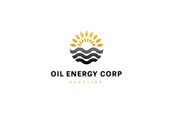 Oil energy corp logo template. ~ Logo Templates ~ Creative Market