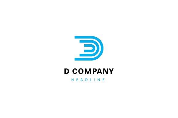 D company logo template.