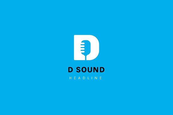 D sound logo template logo templates creative market altavistaventures Image collections