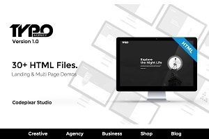 Typo Creative Agency HTML5 Template
