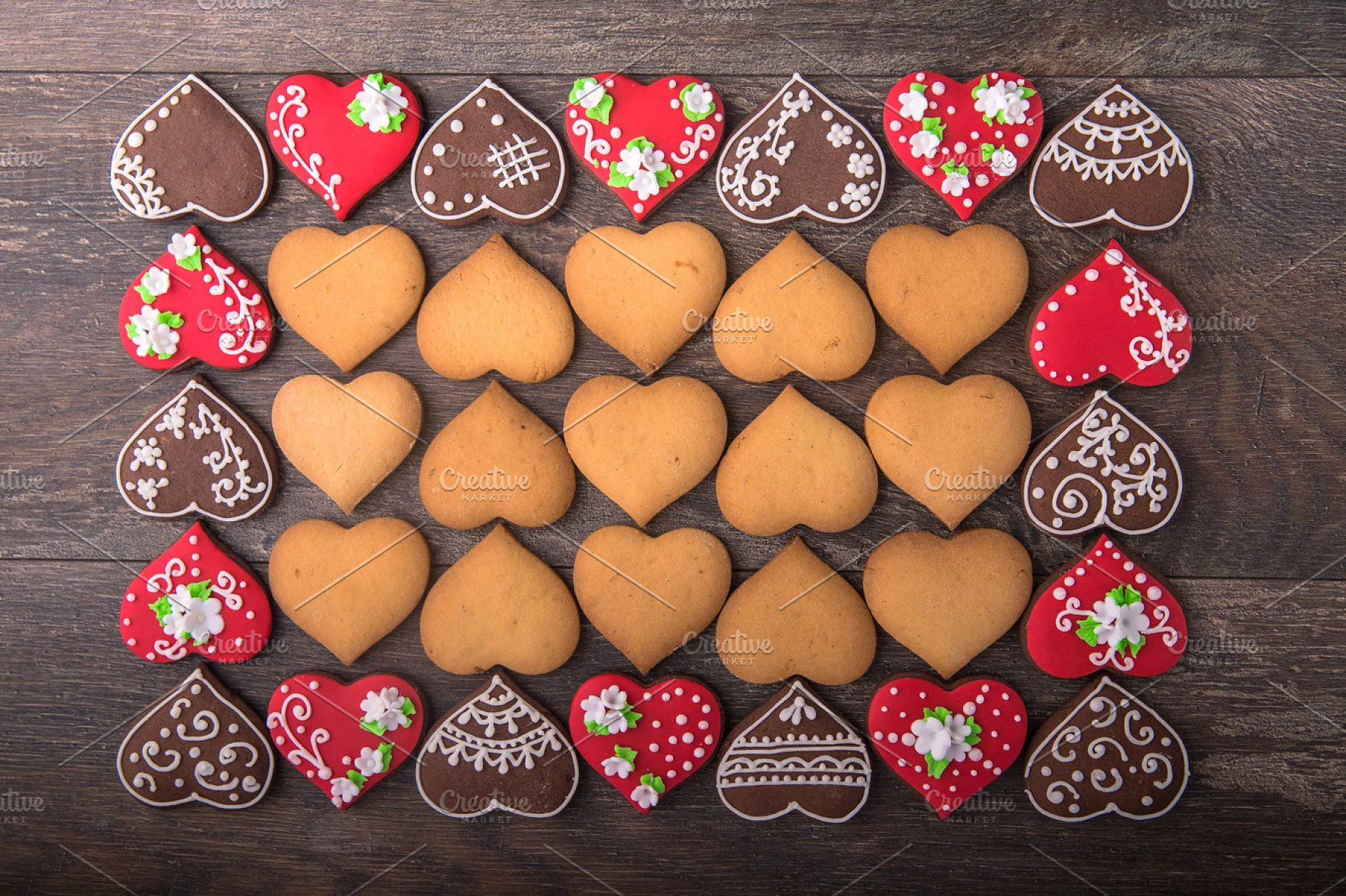 Heart Cookies On Valentine S Day