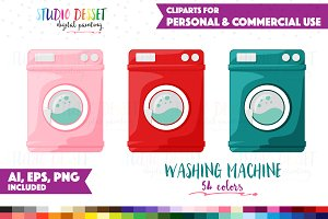 Washing Machine Clipart Vector