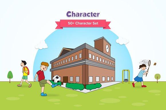 School Activity Characters