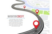 Navigation concept with pin pointer