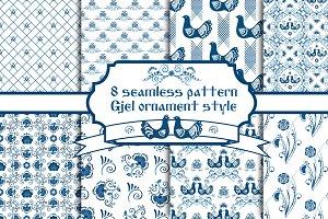 Set Gjel seamless pattern
