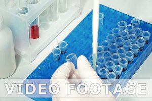 Lab technician scientist makes chemical analysis