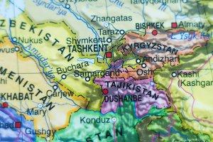 Republic of Uzbekistan country map .