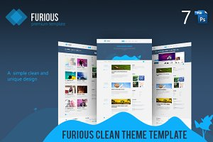 Furious | Clean And Unique PSD Templ