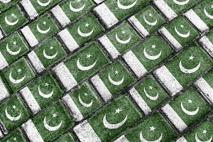 Pakistan Grunge Pattern