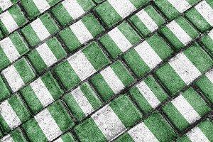 Nigeria Grunge Pattern