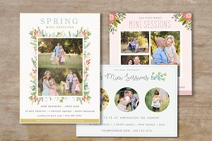 Spring Mini Session Templates