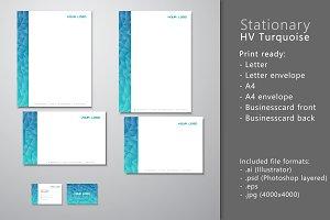 Stationary HV turquoise blue