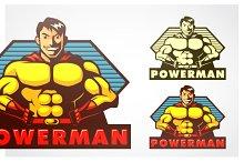 Powerman Mascot