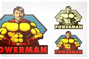 Powerman Mascot