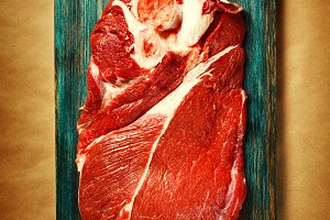 Fresh beef veal meat
