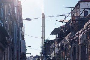 Urban fabric slum