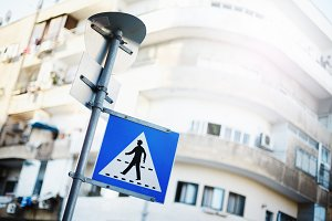 Pedestrian sign on Israel street