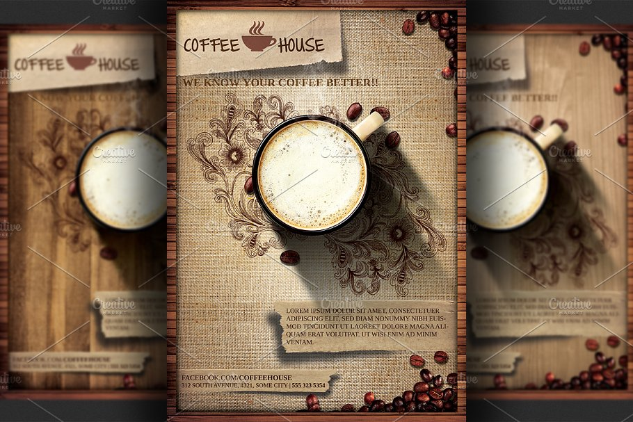Coffee Shop Promotion Flyer Template Flyer Templates Creative