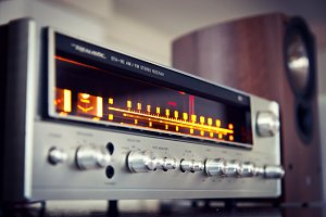 Analog Audio Stereo Receiver Vintage