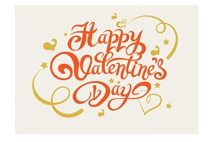 Valentines Day. Lettering Design