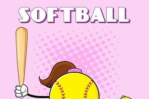Softball Girl Faceless