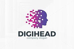 Digi Head Logo Template