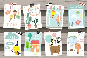 8 Cute animal cards1#