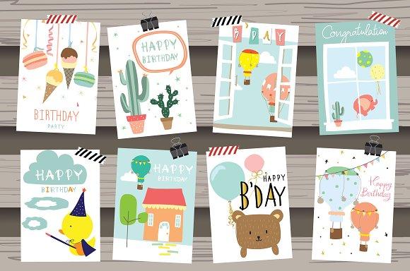 8 Cute Animal Cards1#