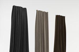 Three curtains