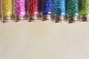 Rainbow seed beads
