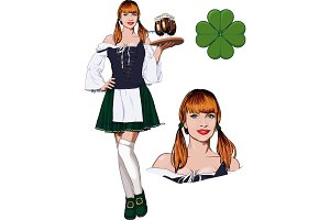 Irish girl with Beer