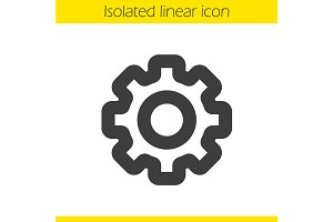 Cogwheel icon. Vector