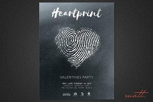 Heartprint Photoshop Template