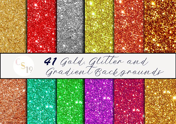 Gold Glitter Gradient Backgrounds