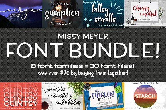 Missy Meyer Font Bundle