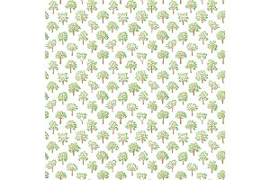 Tree seamless pattern.